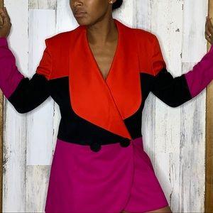 VTG Leslie Lucks color block blazer